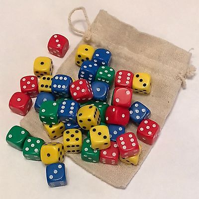 Tenzi Dice Game - 2-4 Player Family Dice Game - 40 Dice in a Bag - New (D142)