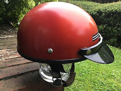 STADIUM 8 1970's VINTAGE MOTORCYCLE OR SCOOTER CRASH HELMET 7 1/8