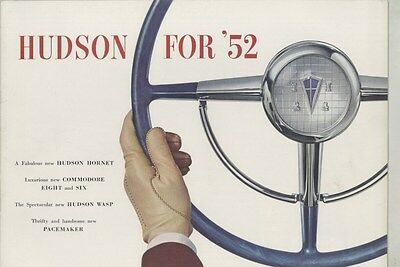 1952 Hudson Hornet Commodore Eight Six Wasp Pacemaker Prestige Brochure ww4712