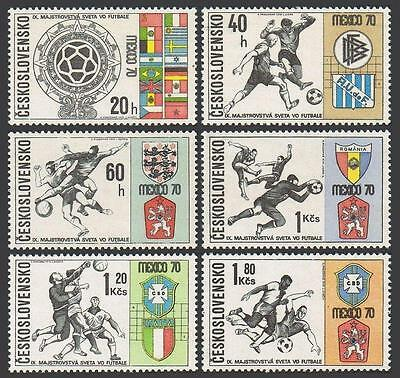 Czechoslovakia 1704-1709,MNH.Michel 1958-1963. World Soccer Cup Mexico-1970.
