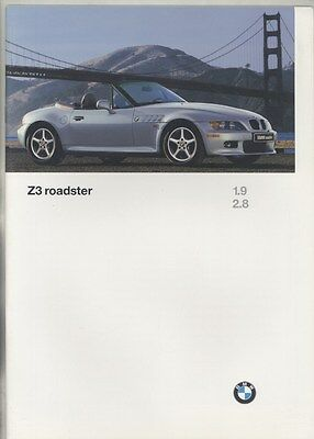 1997 BMW Z3 1.9 2.8 Roadster Prestige Brochure ww4729