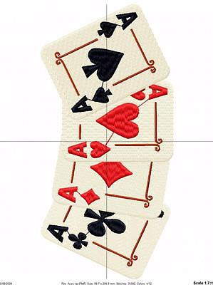 Deck Of Cards 63 Machine Embroidery Designs Cd