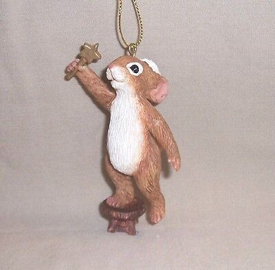 Big Sky Carvers Santa Mouse Hanging the Star Hanging Ornament