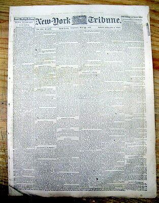 1863 Civil War newspaper TREATMENT of NEGRO SOLDIERS by Confederates Described