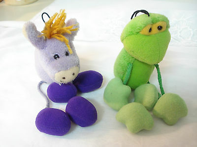 Vintage STRING BEANS by GUND Plush Bean Bag Animals GRAPE JAM & KEY LIME PIE