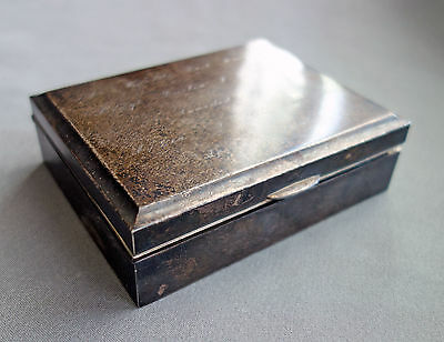 Vintage 1962 Sterling Silver Presentation Box Military General T.C. Rogers;D110