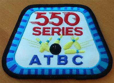 Atbc 550 Series Woven Cloth Patch Badge Tenpin Bowling New Freepost