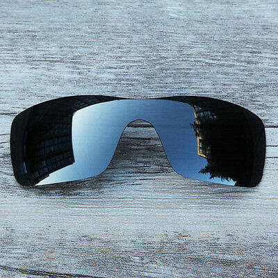 Inew Black Iridium polarized Replacement Lenses for Oakley Batwolf two pieces
