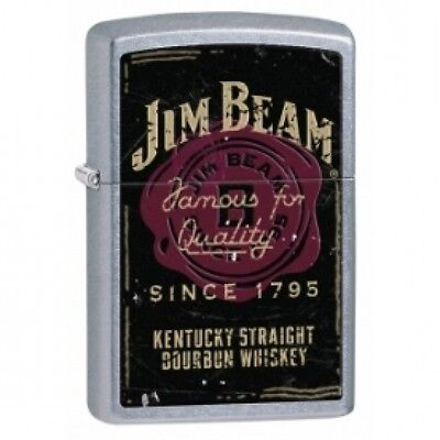 Zippo Jim Beam Famous For Qaulity Street Chrome Lighter Brand New