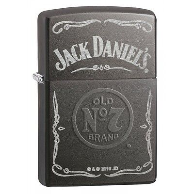 Zippo Jack Daniel's Label Grey Dusk Regular Lighter Brand New
