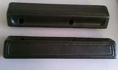 1966-70 Dodge Plymouth B-body C-Body Charger 13 Inch Black Arm Rest Pads/Mopar