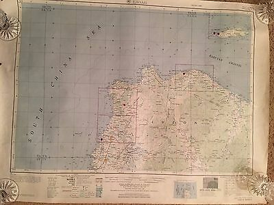 Vintage 1952 Map Of Laoag Published By  Army Map Service