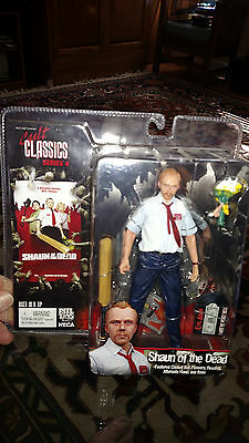 Cult Classics SHAUN OF THE DEAD FACTORY SEALED Action Figure 2006 NECA Reel NOS