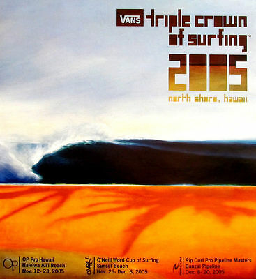 Mint Official 2005 Triple Crown Surfing Contest Hawaii Very Rare Surf Poster