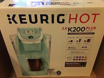 **Brand New** Keurig 2.0 K200 Coffee Maker Brewing System Oasis (Light Blue)