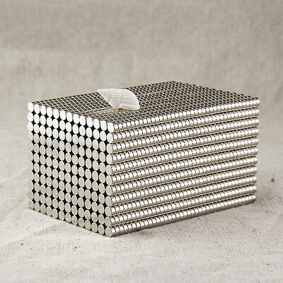 50Pcs Super Strong Round N35 Neodymium Magnets Rare Earth Disc Fridge Craft BY83