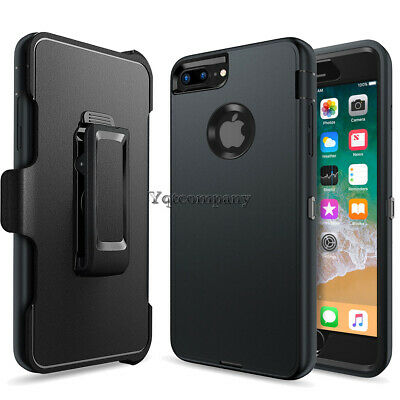 Black Kickstand Hard Case Cover + Belt Clip Holster Stand For iPhone 6s 7 Plus