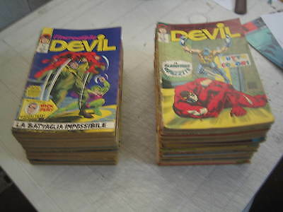 Blocco Di 68 Numeri Dell'incredibile Devil Originale Corno Dal N. 12 Al N. 100