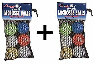 Champion Lacrosse Ball Set Official (x12) NFHS Mobility Massage Therapy