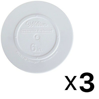 Wilton Decorator Preferred Smooth Edge Plate 6 Inch White (3-Pack)