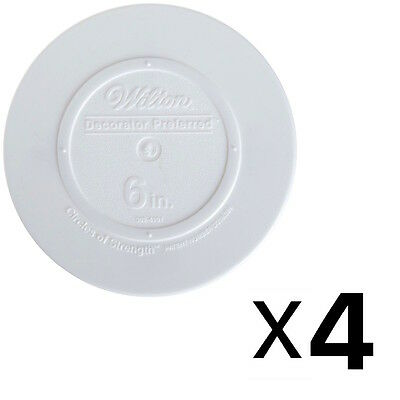 Wilton Decorator Preferred Smooth Edge Plate 6 Inch White (4-Pack)