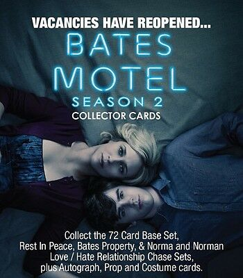 Bates Motel Season 2 Sealed Box Of Cards, Complete Base Set And 8 Hits!!