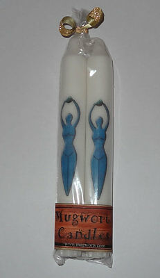 Blue Goddess Taper Candle 20 cm high, Wiccan, Pagan,spell Wicca, Gift Halloween