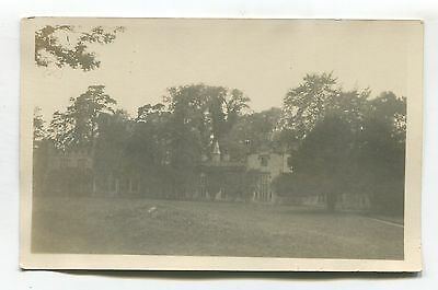 Unknown large house - old real photo postcard