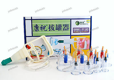 Kangzhu 12 Cup Vacuum Cupping Set Acupuncture Therapy Boxed