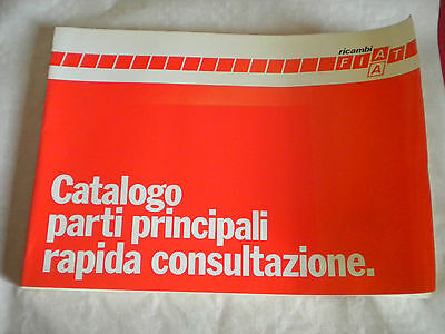 Vintage factory parts catalogue Fiat ricambi Rapid consult Principal parts 1984