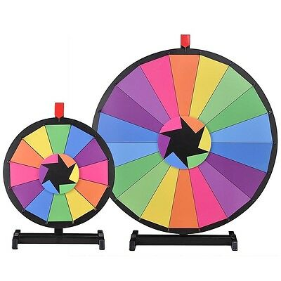 """WinSpin™ 2 Pcs 30"""" & 15"""" Tabletop Color Prize Wheel Spinning Game Tradeshow"""