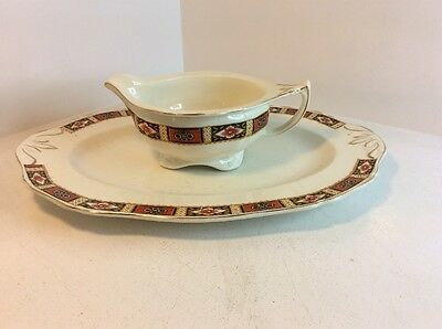 Alfred Meakin Serving Plate And Gravy Jug