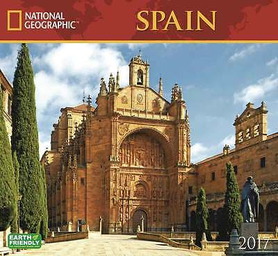 National Geographic Spain Deluxe Calendar 2017 Travel & Transport