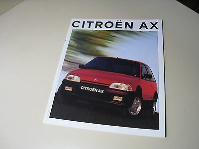 CITROEN AX Spanish? Brochure 1992?