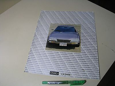 CITROEN CX PALLAS CX2400 Japanese Brochure 1982? SEIBU 1978? DAMAGED