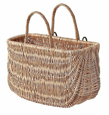 Vintiquewise Wicker Shopping/Bike Basket Honey NEW