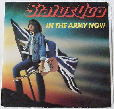 """STATUS QUO UK 1986 12"""" Single IN THE ARMY NOW"""