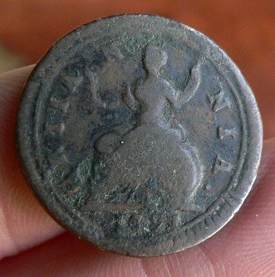 Great Britain Farthing coin 1721 George I