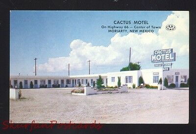 Moriarty New Mexico Route 66 Cactus Motel Vintage Advertising Postcard Nm