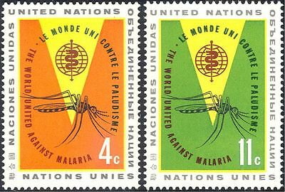 United Nations/UN 1962 Malaria/Medical/Insects/Welfare/Mosquitoes 2v set n40326