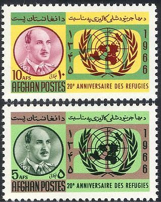 Afghanistan 1966 UN Day/United Nations//Refugees/Welfare 2v set (n29022)