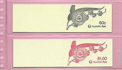 AUSTRALIA 1982 -  60c & 80c STAMP BOOKLETS.Eucalyptus Flowers - Complete MNH