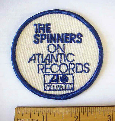 VINTAGE 1970's R & B  THE SPINNERS ON ATLANTIC RECORDS EMBROIDERED SEW-ON PATCH