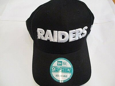 Oakland Raiders 9Forty Cap By New Era Size Adults Adjustable Brand New
