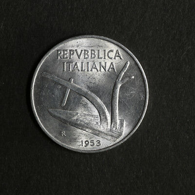 1953 - R Italy 10 Lire KM 93 Great Deals From The TECC Bargain Bin