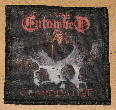 "ENTOMBED ""CLANDESTINE"" silk screen PATCH"