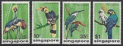 SINGAPORE 1975 birds set of 4, unmounted mint MNH, SG#260-263