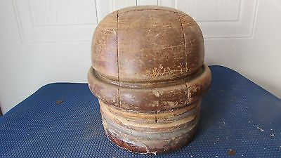 """GREAT Antique Wood Wooden Block Form Mold Millinery 5 PIECES PUZZLES 21""""3/4 #13"""