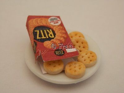 Dolls house food: Box of Ritz crackers  -By Fran