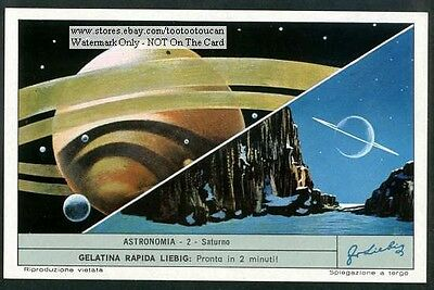 The Planet Saturn Saturno c40 Y/O Astronomy Card